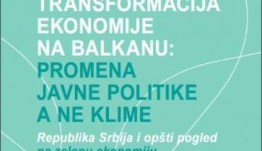 Završeno istraživanje o zelenoj ekonomiji u Srbiji